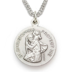 St Christopher Basketball Sports Medal With Chain St