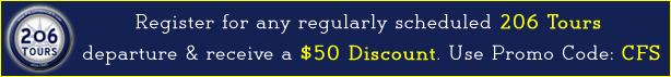 206 Tours Discount Coupon