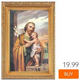St. Joseph Antique Gold Framed Print