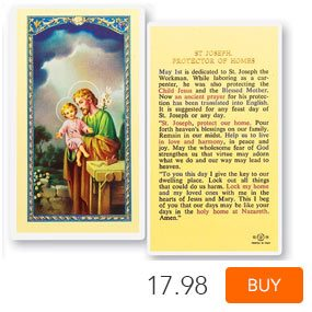St. Joseph Protector of Homes Laminated Prayer Cards 25 Pack