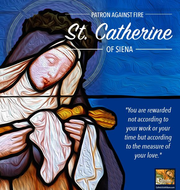 Saint Catherine Of Siena Feast Day April 29th
