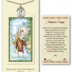 St. Christopher Medal in Pewter with Prayer Card