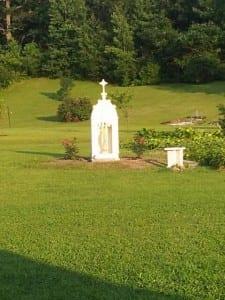 Mary Statue in Garden