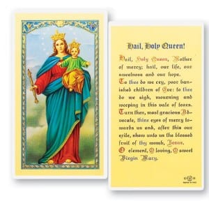 Hail Holy Queen Laminated Prayer Cards 25 Pack