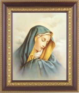 Sorrowful Mary Framed Print