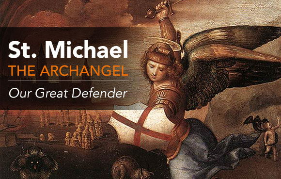St. Michael the Archangel fighting Satan
