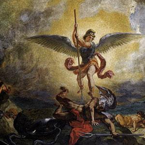 St. Michael battling satan