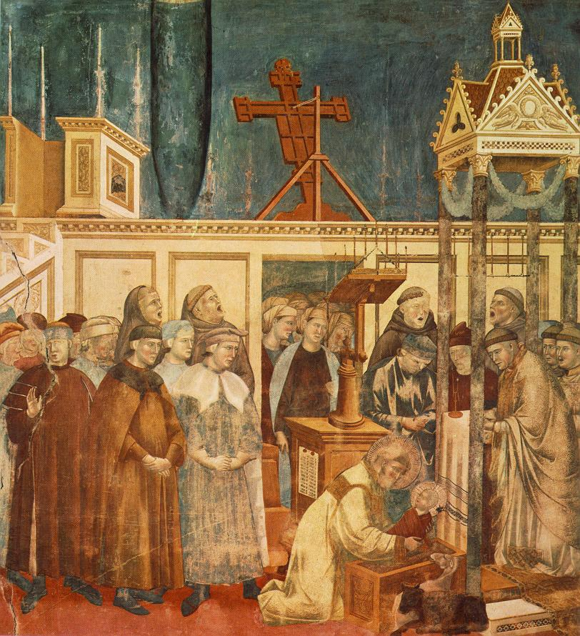 Giotto Legend of St Francis Institution of the Crib at Greccio
