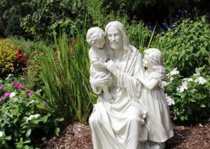 Jesus Statue in Prayer Garden