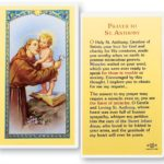 Saint Anthony Prayer Cards