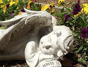Angel Statue in Prayer Garden