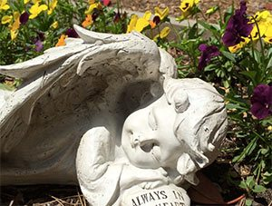 Angel Statue in Prayer Garden