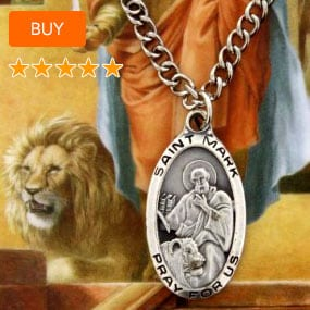 Oval St. Mark Medal with Prayer Card