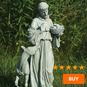 St. Francis Garden Statue with Horse - 25.5""