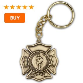 St. Florian Patron Saint of Firefighters Keychain