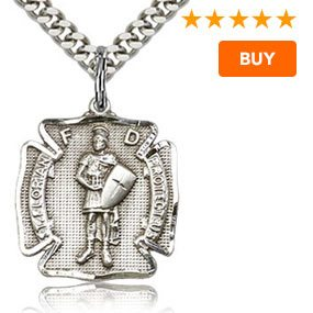St. Florian Sterling Silver Shield Medal