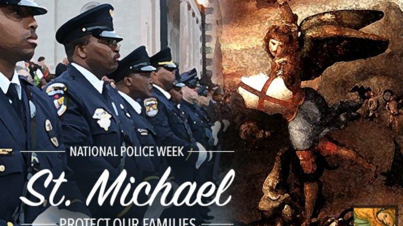 All Patron Saints Saint Michael Police Officer Prayer Auto Visor Clip