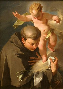 The Vision of Saint Anthony of Padua painting by Giovanni Battista Pittoni, San Diego Museum of Art