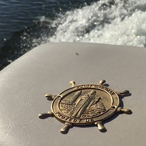 Saint Brendan Boat Plaque