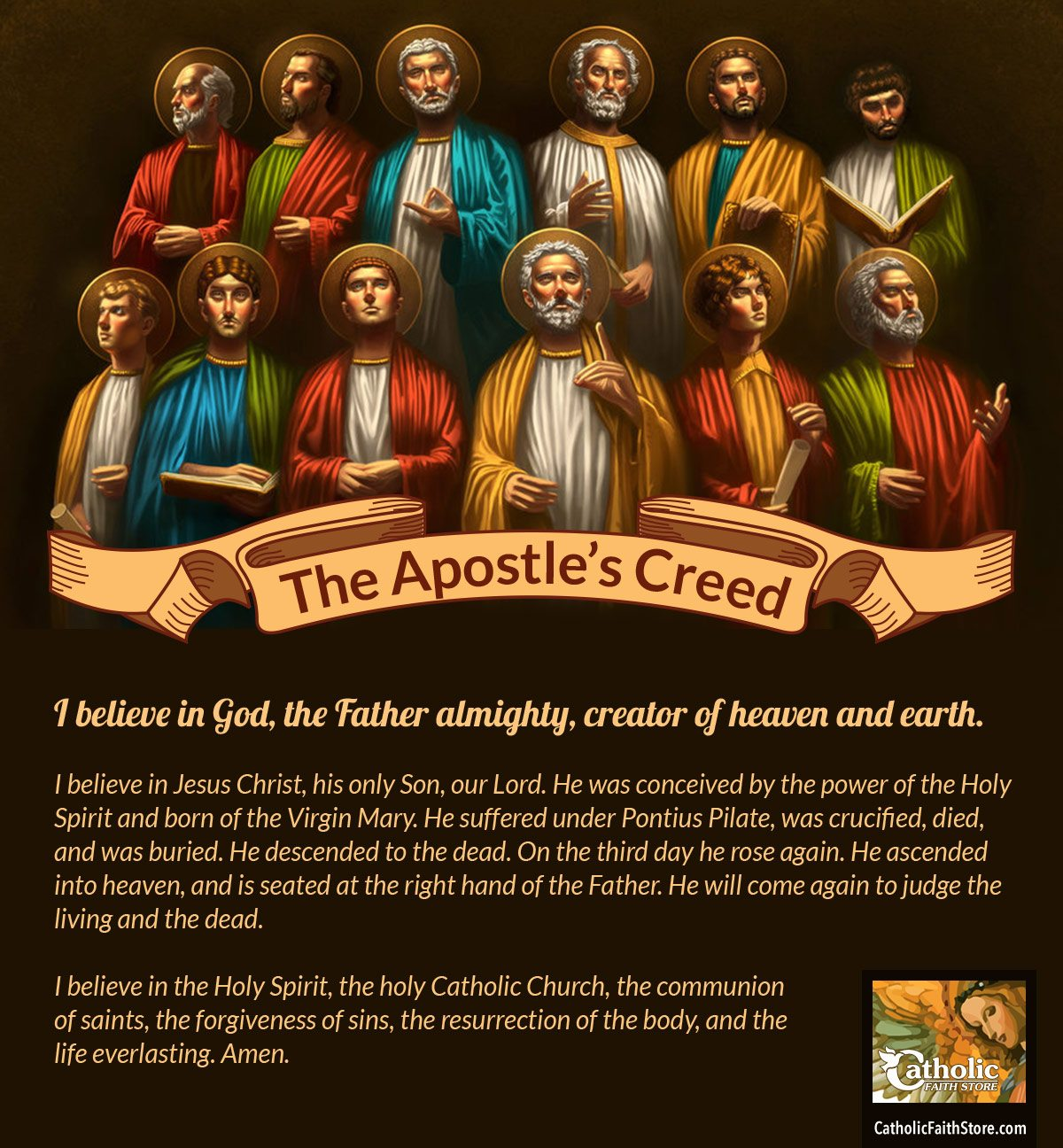 a comparison of the lords prayer and the apostles creed The creed gives a clear summary of christian belief and formed the basis for later creeds the apostles creed i believe in god the father almighty, maker of heaven and earth.