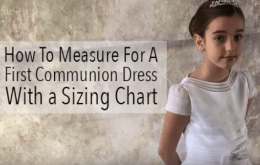 How To Measure For a First Communion Dress
