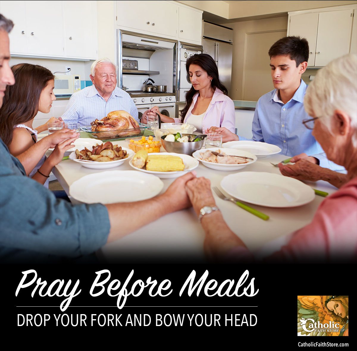 Praying Before A Meal