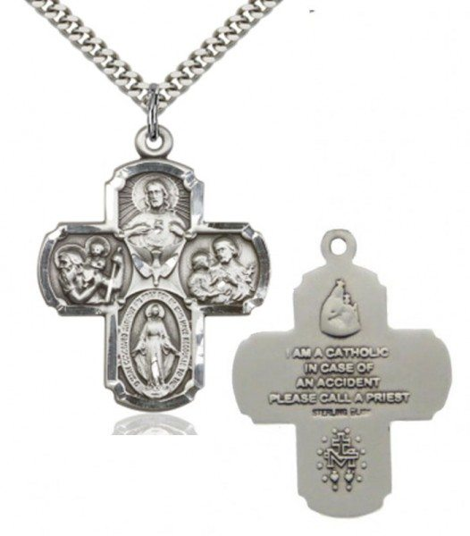 Classic Catholic Symbol - Five Way Medal