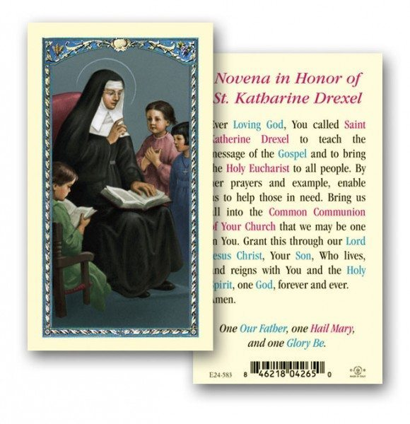 Saint Katharine Drexel Prayer Cards