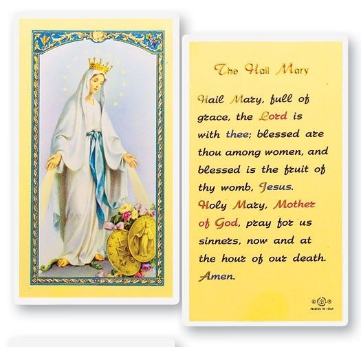 Hail Mary Prayer Card