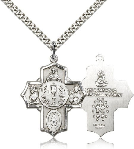 Holy Communion Chalice Center Medal