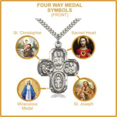 The Meaning of Four Way Medals: Catholic Symbols