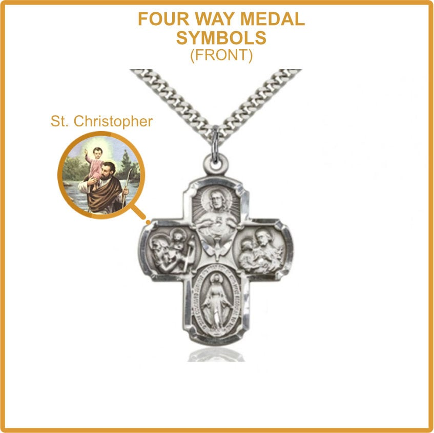 Four Way Medal - Saint Christopher