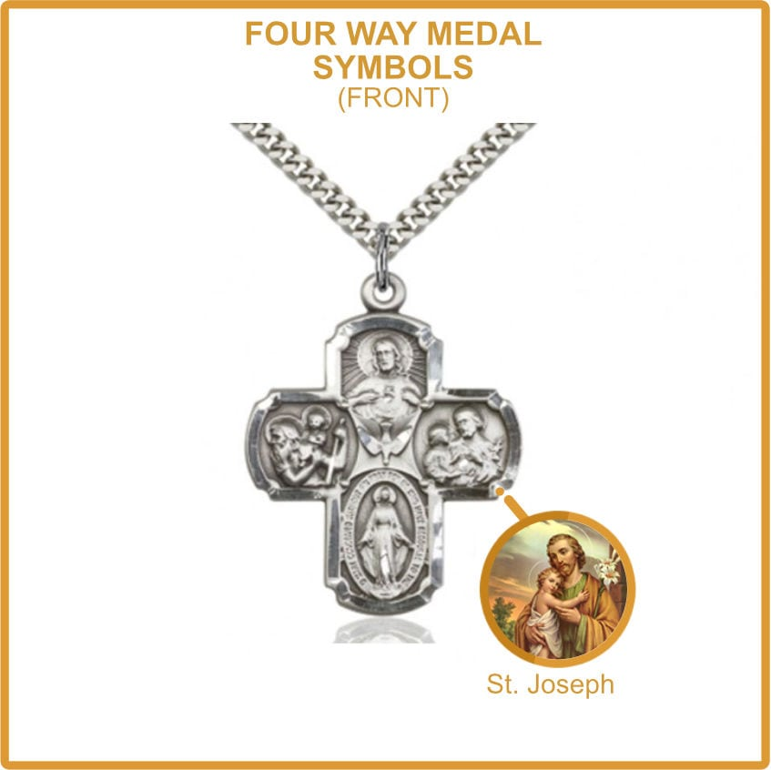 Four Way Medal - Saint Joseph