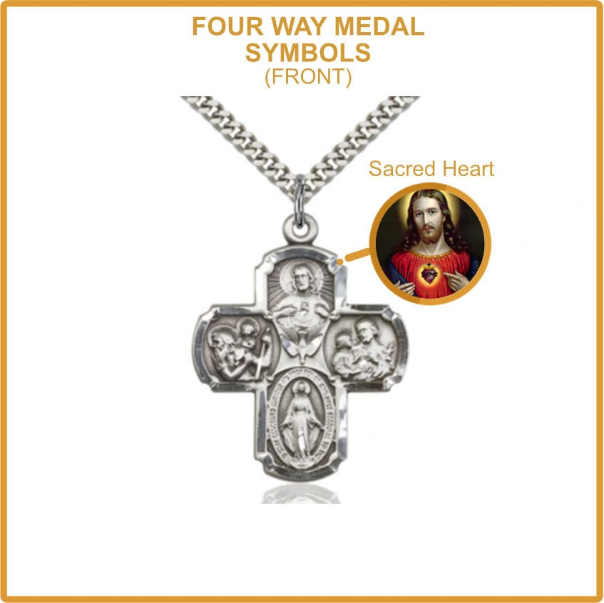 Four Way Medal - Sacred Heart