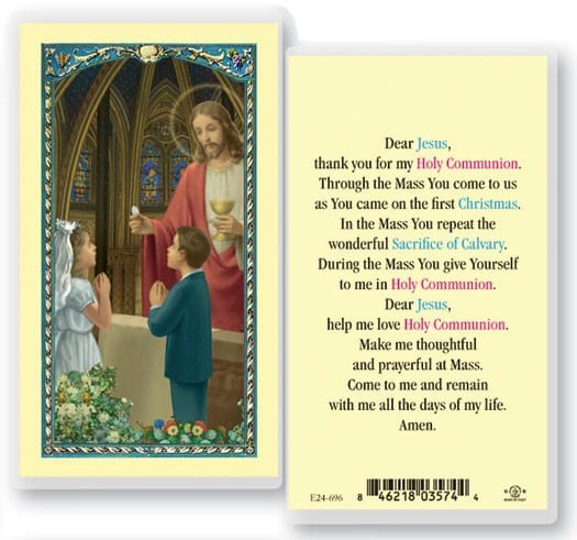 First Communion Laminated Prayer Cards