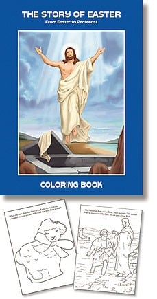 The Story of Easter Children's Coloring Book - 12 Per Order