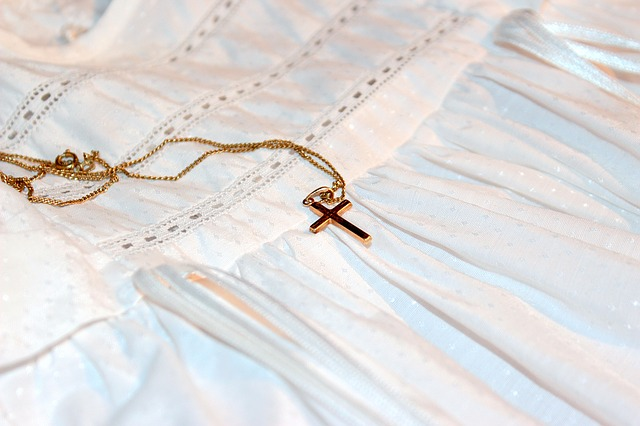 Catholic Medals - Gold Baptism Necklace