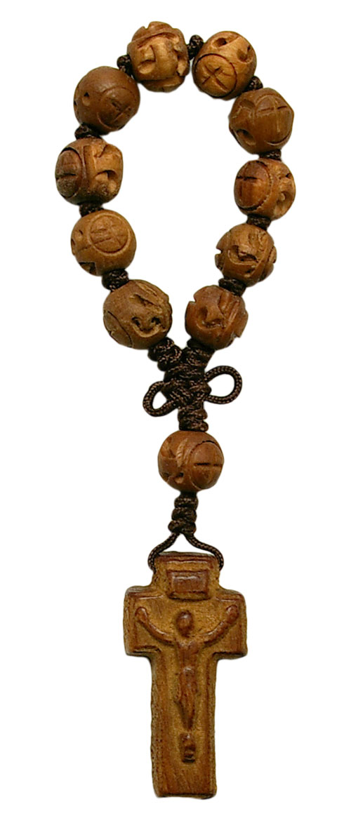 Hand-carved Jujube Wood 1 Decade Rosary