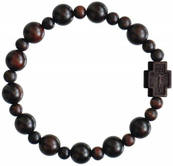 Jujube Wood Rosary Bracelet