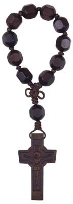 Hexagon Cut Jujube Wood Rosary